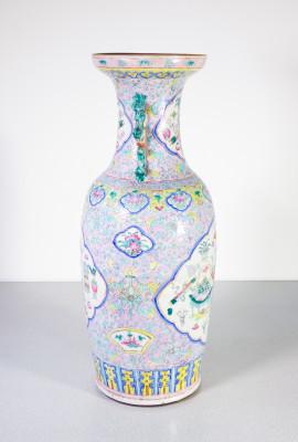 """Grande vaso cinese il porcellana smaltata """"Famille Rose"""". Cina, Qing Secondo Ottocento"""