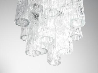 Lampadario a sospensione serie Calze design VENINI, vetro soffiato di Murano. Italia, Anni 60