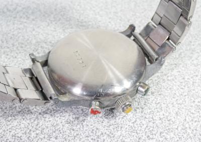 Cronografo da polso MILOS Savoy Watch, con movimento LANDERON 47 a carica manuale, tre tasti, 17 gioielli. Svizzera, Anni 30