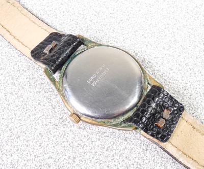 Orologio da polso a carica manuale GENIEVRE Ancre A.G. 17 Rubis Calendar, movimento cal. 234. Svizzera, Anni 50