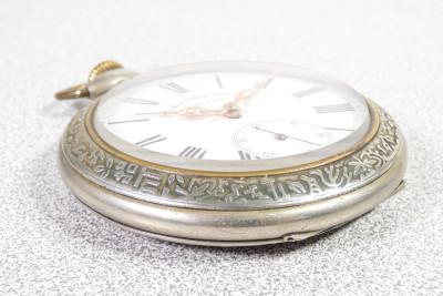Orologio da tasca a carica manuale DOXA Goliath Argentan. Primi del Novecento