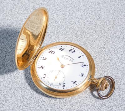 Orologio da tasca EBERHARD & Co. La Chaux-de-Fonds Chronometre in oro 18k - 0.750. Svizzera, Primo Novecento