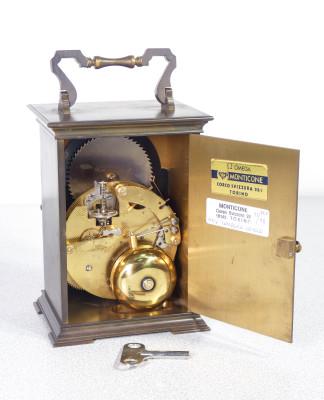 Orologio da tavolo KIENZLE con fasi lunari, doppia campana, cal 130-070 funzionante. Svizzera