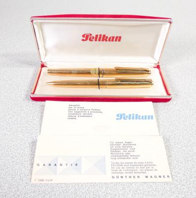 Parure di penne PELIKAN 60 stilografica pennino F e penna a sfera, nell