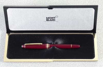 Penna a sfera MONTBLANC Meisterstück rosso bordeaux, n° GC270783. Confezione originale. Germania