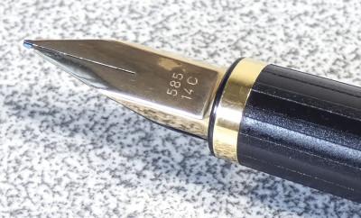 Penna stilografica PELIKAN Signum P560. Pennino F in oro 585 14 C. Germania, Anni 80