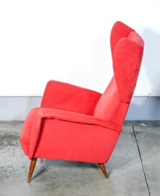 Poltrona Bergère, design Giò PONTI per Vittorio DASSI. Italia, Anni 50