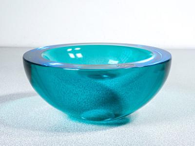 Portacenere di design in vetro soffiato policromo di Murano. Italia, Anni 80