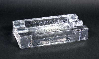 Portacenere in vetro, design Christer SJÖGREN (1926-2008) per LINDSHAMMAR. Svezia, Anni 60/70