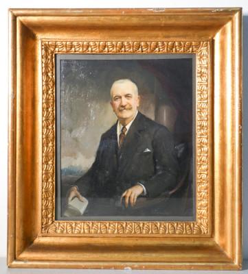 Dipinto a olio firmato Achille PARACHINI. Ritratto di uomo. Italia, Fine Ottocento Primo Novecento