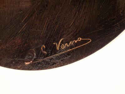 Dipinto firmato Camillo VERNO, San Luigi Gonzaga. Olio su tavola. Italia, Fine Ottocento Primo Novecento