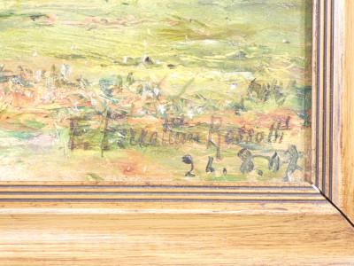 Dipinto firmato Emilia FERRETTINI ROSSOTTI, Paesaggio con figure. Italia, 1907