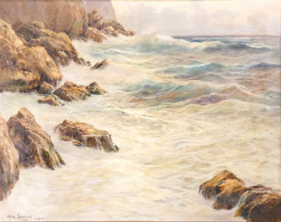 Dipinto a olio a firma Michele FEDERICO, Capri. Italia, Prima metà del Novecento