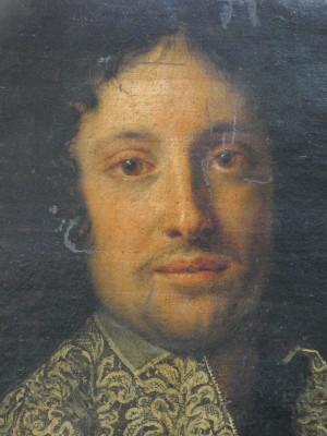 Ritratto a olio su tela dipinto in area lombarda fra la fine del Seicento e l