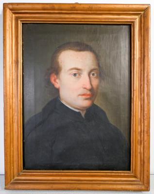 Ritratto di uomo in olio su tela. Italia, Primo Settecento