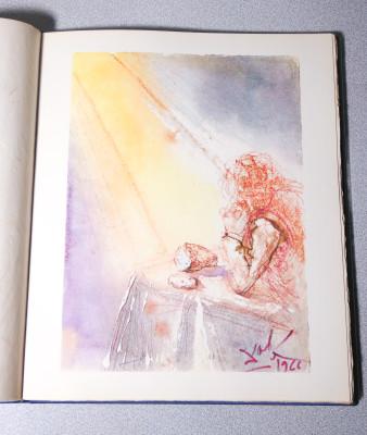 Libro, opera a firma Salvador DALÌ Pater Noster con testo del Padre Nostro in dieci lingue e stampe dell
