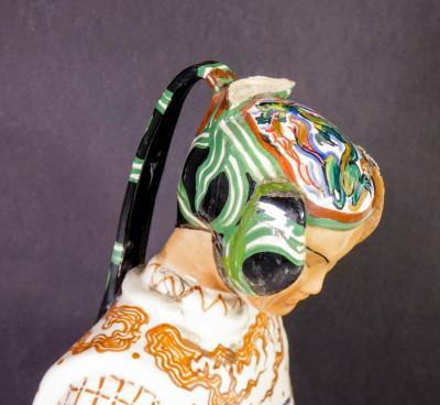 Scultura in ceramica dipinta a mano, firmata LE BERTETTI Imperatore n° 77. Torino, Anni 30/40
