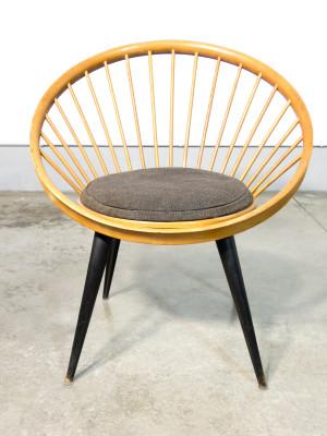 Sedia di design CIRCLE di Yngve EKSTRÖM. Svezia, Anni 60