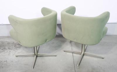 Set di quattro poltrone girevoli, design Gianni MOSCATELLI per FORMANOVA. Italia, Anni 60