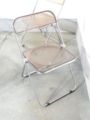Set di cinque sedie PLIA design Giancarlo PIRETTI per CASTELLI. Italia, 1967