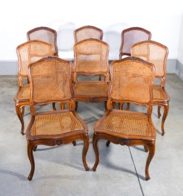 Set di otto sedie LUIGI XV originali d