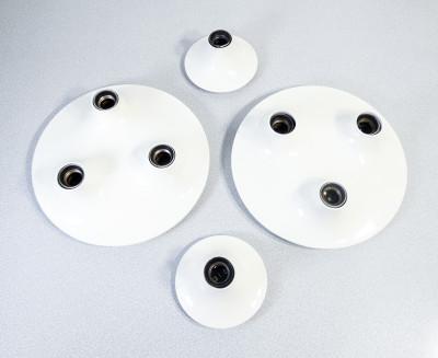 Set di quattro lampade TRITETI e TETI design V. MAGISTRETTI per ARTEMIDE. Italia, Anni 70