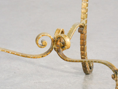 Ssgabello di design Pier Luigi COLLI, in metallo dorato. Italia, Anni 50