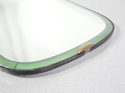 Specchio da parete, design Pietro CHIESA per FONTANA ARTE Luigi Fontana, in cristallo Galvanit. Italia, Anni 50