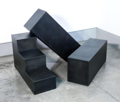 Tavolini modulari Gli Scacchi, design Mario BELLINI per C&B. Italia, Anni 70