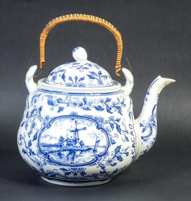 Teiera in ceramica HEIJSTEE SMIT & CO. Bensdorp Cacao. Amsterdam, Anni 30