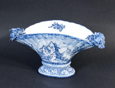 Vaso in ceramica dipinta a mano. Manifatture ALBISOLA. Italia, Metà Novecento